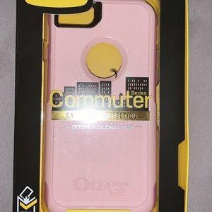 Pink otter box commuter case iPhone 7&8